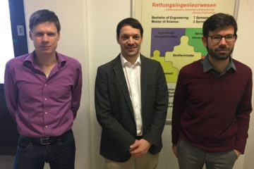 Professor Alexander Fekete (left), Karsten Uhing (middle), Dr. Samuel Roufat (right)